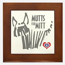 Mutts for Mitt by Vampire Dog Framed Tile