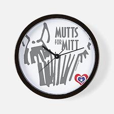 Mutts for Mitt by Vampire Dog Wall Clock