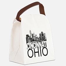 Cincinnati Skyline Canvas Lunch Bag