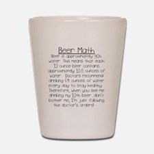 Beer Math Shot Glass