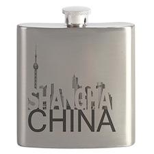Shanghai Skyline Flask