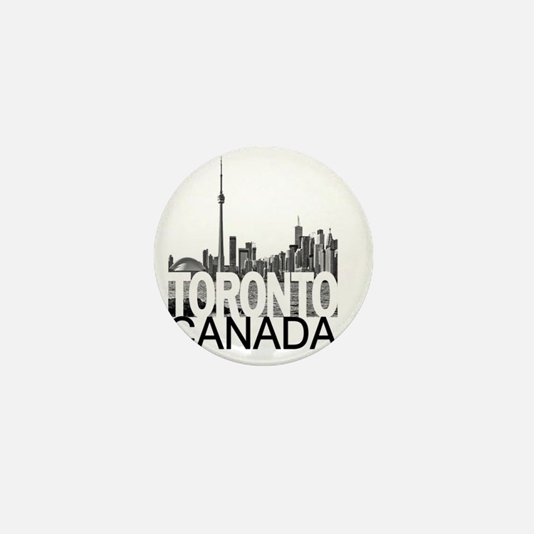Toronto Skyline Mini Button