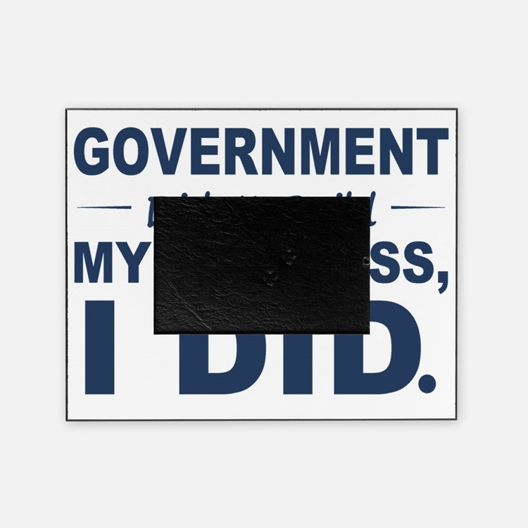 Government Didnt Build It Picture Frame