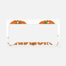 Halloween Pumpkin Gabrielle License Plate Holder