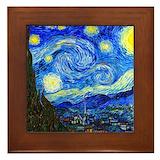 Starry night Framed Tiles
