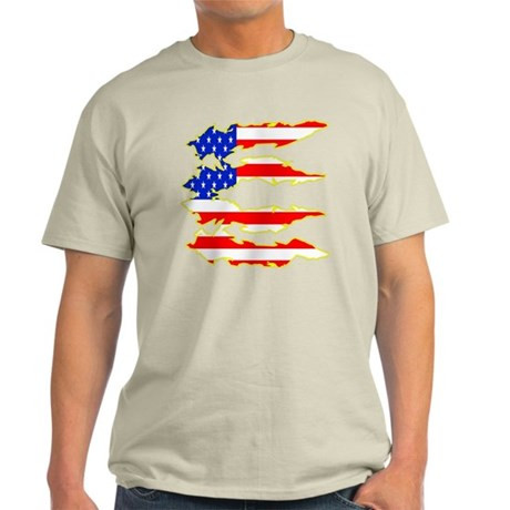 American Flag Tear Out Light T-Shirt