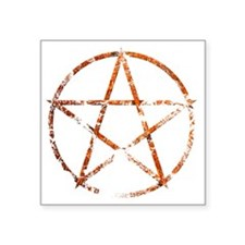"pentagram eroded Square Sticker 3"" x 3"""