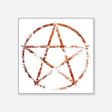 "pentagram eroded Square Sticker 3"" x 3"""