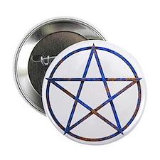 "pentagram rusted 2.25"" Button"