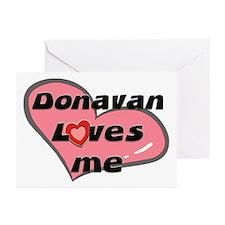 donavan loves me  Greeting Cards (Pk of 10)