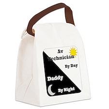 AV Technician by day Daddy by nig Canvas Lunch Bag