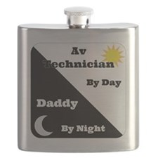 AV Technician by day Daddy by night Flask