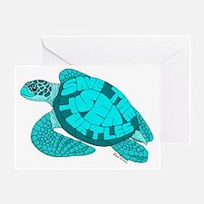 Teal Turtle Greeting Card