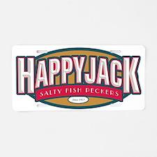Happy Jack Fish Peckers Aluminum License Plate