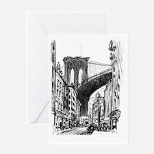 Pennell Joseph Brooklyb Bridge Greeting Card