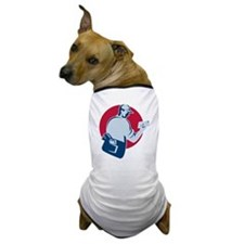 mailman postman deliver mail envelope  Dog T-Shirt