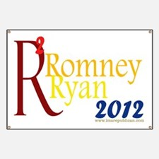 Romney Ryan Squared Yard Sign Banner
