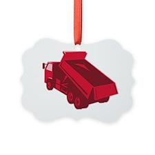 dump dumper truck dumping load re Ornament