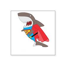 """Shark hero Square Sticker 3"""" x 3"""""""