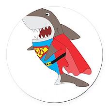Shark hero Round Car Magnet