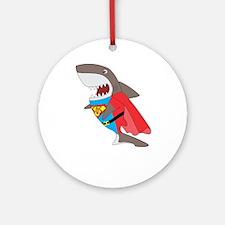 Shark hero Round Ornament