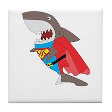 Shark hero Tile Coaster