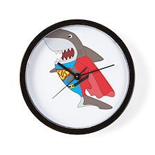 Shark hero Wall Clock