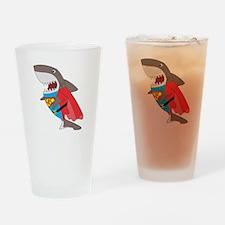Shark hero Drinking Glass