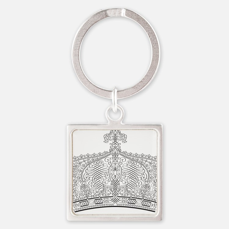 Crown Square Keychain
