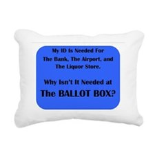 Voter ID Required Rectangular Canvas Pillow