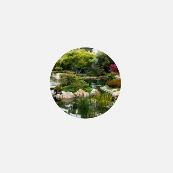 Japanese Garden Panorama copy Mini Button