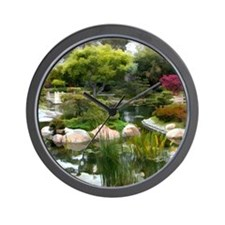 Japanese Garden Panorama copy Wall Clock