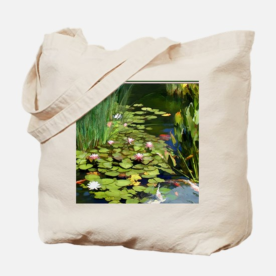 Koi Pond and Water Lilies copy Tote Bag