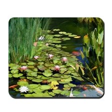 Koi Pond and Water Lilies copy Mousepad