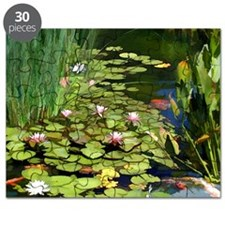 Koi Pond and Water Lilies copy Puzzle