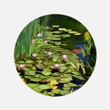 "Koi Pond and Water Lilies copy 3.5"" Button"