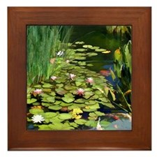 Koi Pond and Water Lilies copy Framed Tile
