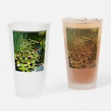 Koi Pond and Water Lilies copy Drinking Glass