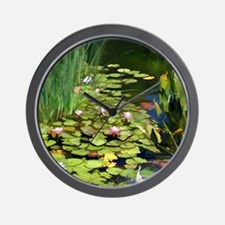 Koi Pond and Water Lilies copy Wall Clock