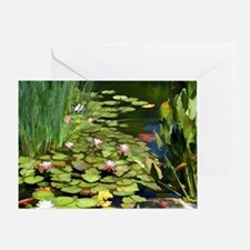 Koi Pond and Water Lilies copy Greeting Card