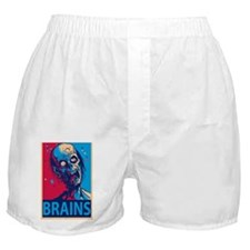 Obama Zombie Brains Boxer Shorts