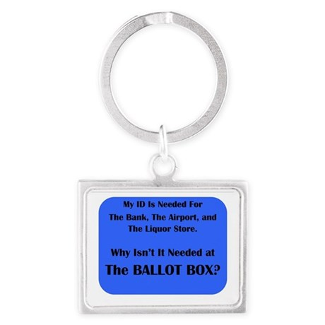 Voter ID Requirement Landscape Keychain