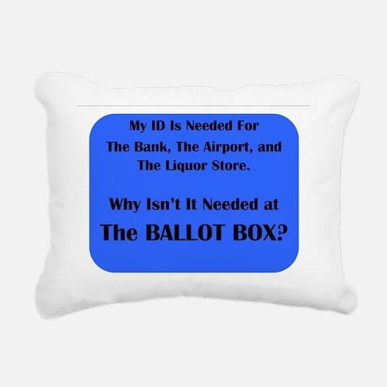 Voter ID Requirement Rectangular Canvas Pillow