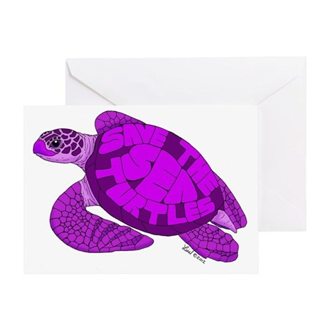 Purple Turtle Greeting Card
