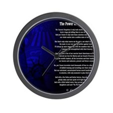 The Power of True Bravery Poem Wall Clock