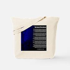 The Power of True Bravery Poem Tote Bag