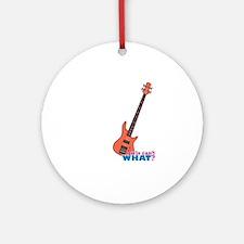 Bass Guitar Ornament (Round)