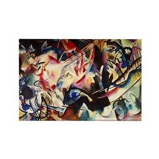 Wassily Kandinsky Composition VI Rectangle Magnet