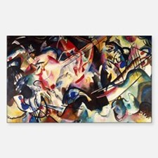 Wassily Kandinsky Composition  Sticker (Rectangle)