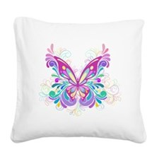 Decorative Butterfly Square Canvas Pillow